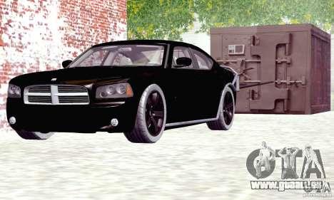 Dodge Charger Fast Five für GTA San Andreas zurück linke Ansicht