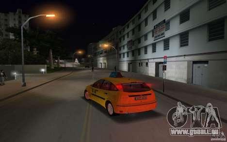 Ford Focus TAXI cab pour GTA Vice City sur la vue arrière gauche