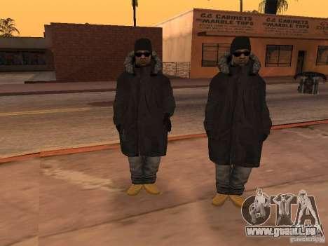 Vêtements d'hiver pour les Ballas pour GTA San Andreas quatrième écran