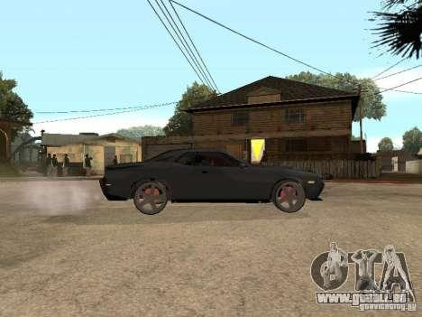 Dodge Challenger pour GTA San Andreas sur la vue arrière gauche
