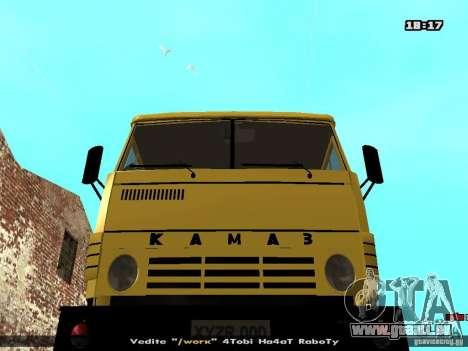 KAMAZ 53112 bétonnière pour GTA San Andreas vue arrière