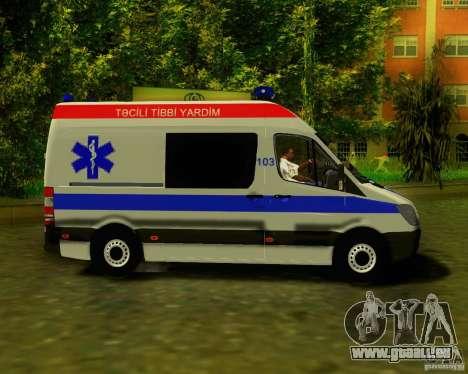 Mercedes-Benz Sprinter Baku Ambulans für GTA San Andreas zurück linke Ansicht