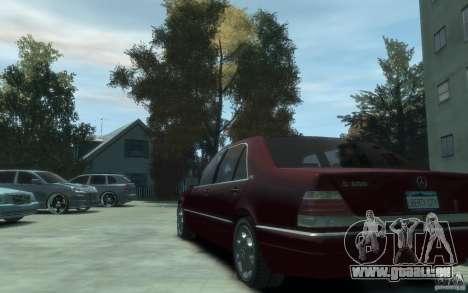 Mercedes-Benz S600 W140 für GTA 4 hinten links Ansicht