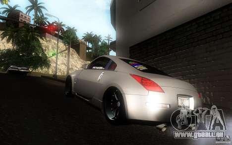 Nissan 350z Speedhunters pour GTA San Andreas sur la vue arrière gauche