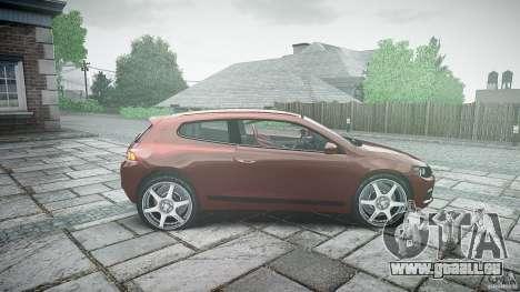 Volkswagen Scirocco 2.0 TSI pour GTA 4 est une vue de l'intérieur