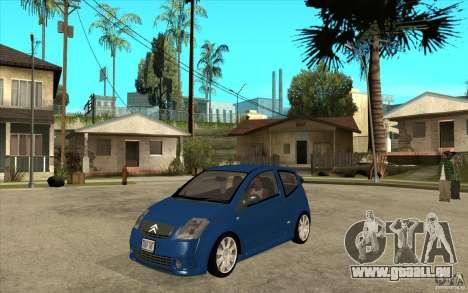 Citroen C2 - Stock pour GTA San Andreas