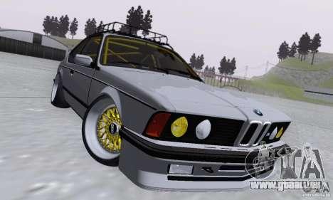 BMW M635CSi Stanced für GTA San Andreas Innenansicht