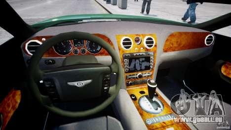 Bentley Continental GT für GTA 4 Rückansicht