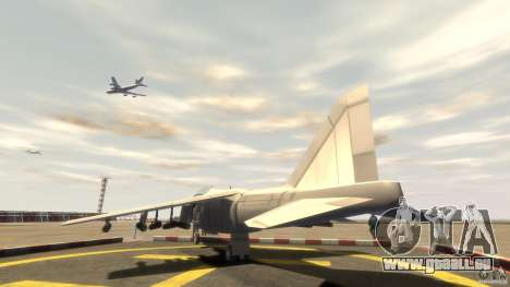 Liberty City Air Force Jet (avec équipement) pour GTA 4 Vue arrière de la gauche