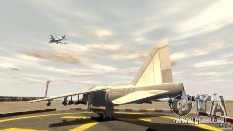 Liberty City Air Force Jet (mit Getriebe) für GTA 4 hinten links Ansicht