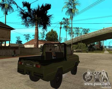 UAZ 3907 Jaguar für GTA San Andreas zurück linke Ansicht