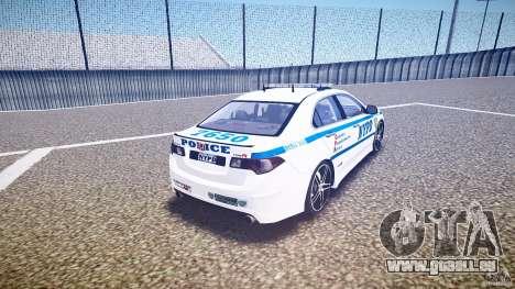 Honda Accord Type R NYPD (City Patrol 7605) ELS pour GTA 4 est un côté
