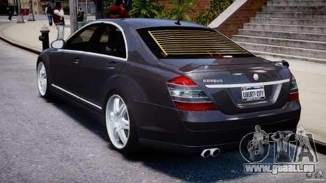Mercedes-Benz S-Class W221 BRABUS SV12 für GTA 4 hinten links Ansicht