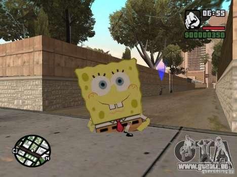 Sponge Bob pour GTA San Andreas cinquième écran