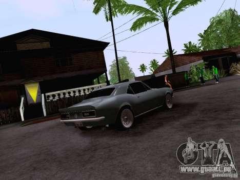 Chevrolet Camaro Z28 für GTA San Andreas zurück linke Ansicht