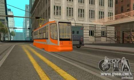 Tramway 71-623 pour GTA San Andreas sur la vue arrière gauche