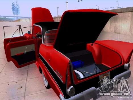 Plymouth Belvedere Sport Sedan 1957 für GTA San Andreas Innenansicht
