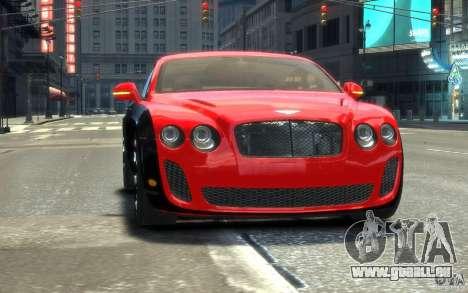 Bentley Continental SS MansorY pour GTA 4 est un côté