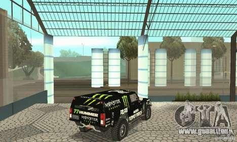 Hummer H3 Baja Rally Truck für GTA San Andreas linke Ansicht