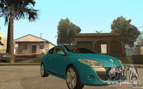 Renault Megane 3 Coupe für GTA San Andreas Rückansicht