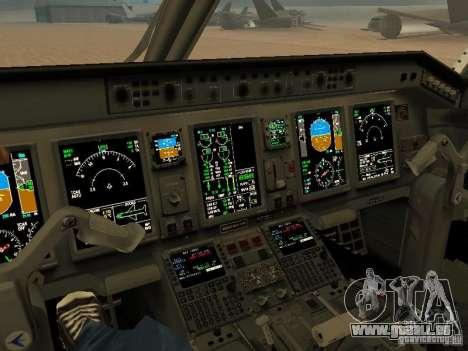 Embraer ERJ 190 Air Canada für GTA San Andreas Innenansicht