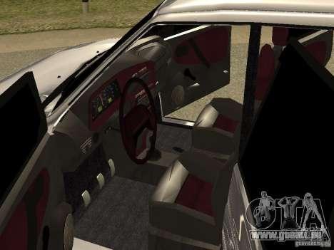 VAZ 2115 pour GTA San Andreas vue intérieure