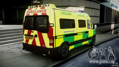 Renault Master 2007 Ambulance Scottish [ELS] pour GTA 4 est un côté