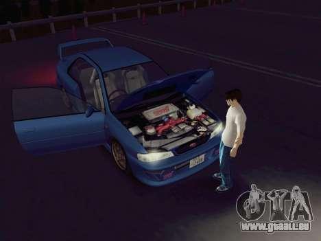 Subaru Impreza WRX GC8 InitialD pour GTA San Andreas sur la vue arrière gauche