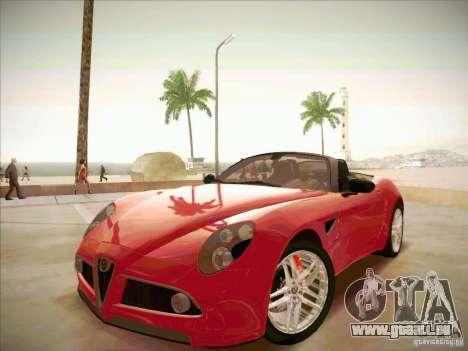 Alfa Romeo 8C Spider für GTA San Andreas