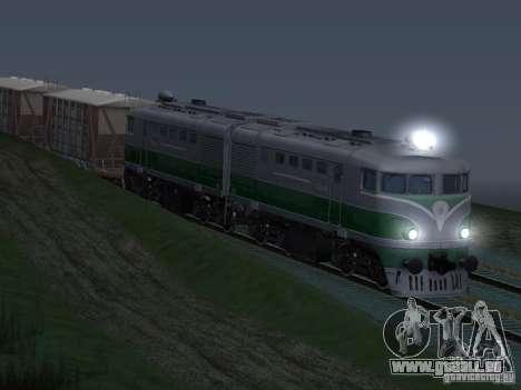 TE2-414 pour GTA San Andreas vue intérieure
