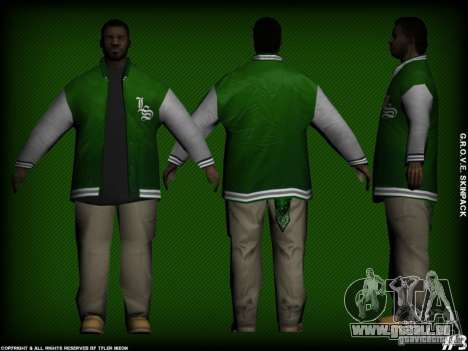 G.R.O.V.E. Skinpack für GTA San Andreas