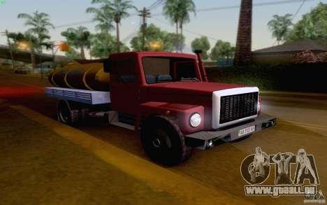 GAZ 3309 Milch tanker für GTA San Andreas linke Ansicht