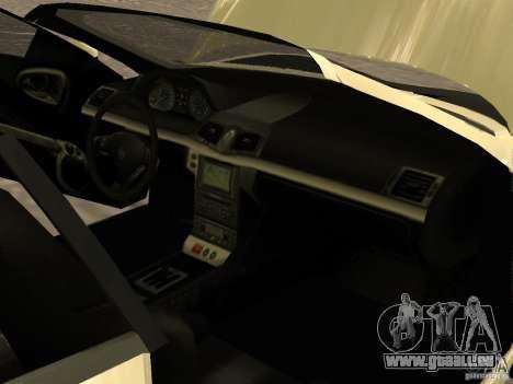 Maserati GranCabrio 2011 pour GTA San Andreas vue de dessus
