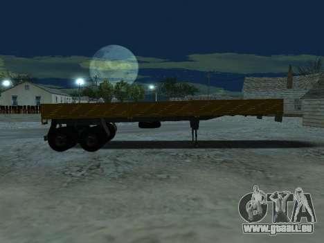 Remorque pour Kamaz 5410 pour GTA San Andreas vue intérieure