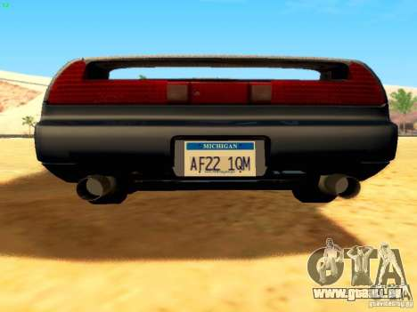 Honda NSX Custom pour GTA San Andreas vue de dessous