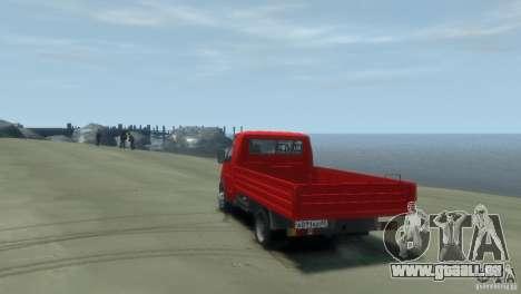 GAZ 3302-14 (Gazelle an Bord) für GTA 4 linke Ansicht