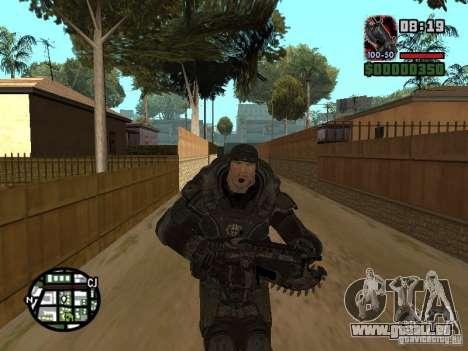 Marcus Fenix de Gears of War 2 pour GTA San Andreas cinquième écran