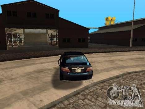 Toyota Camry 2007 pour GTA San Andreas sur la vue arrière gauche