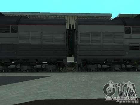 2te116 RZD pour GTA San Andreas sur la vue arrière gauche