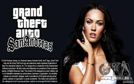 Démarrage écrans HD (Megan Fox) pour GTA San Andreas