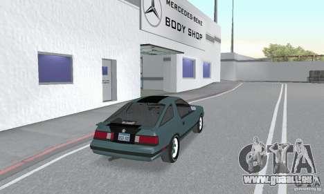 Dodge Daytona Turbo CZ 1986 pour GTA San Andreas laissé vue