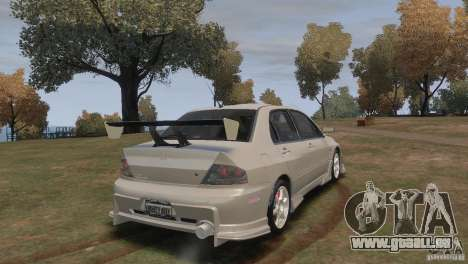 Mitsubishi Lancer Evolution VIII für GTA 4 linke Ansicht