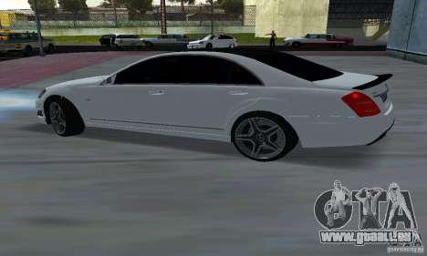 Mercedes-Benz S65 AMG Edition pour GTA San Andreas sur la vue arrière gauche