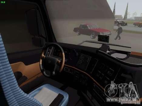 Volvo FH13 Globetrotter für GTA San Andreas Innenansicht
