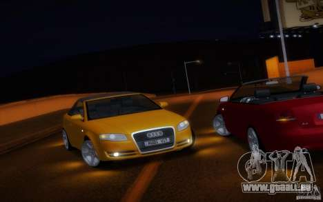 Audi A4 Cabrio pour GTA San Andreas vue de côté