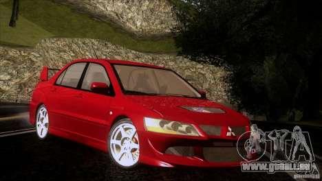 Mitsubishi Lancer Evolution IIIV pour GTA San Andreas vue intérieure