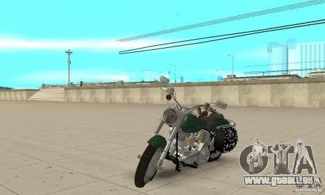 Harley Davidson FLSTF (Fat Boy) v2.0 Skin 1 pour GTA San Andreas