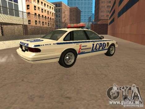 Die Polizei von GTA4 für GTA San Andreas linke Ansicht