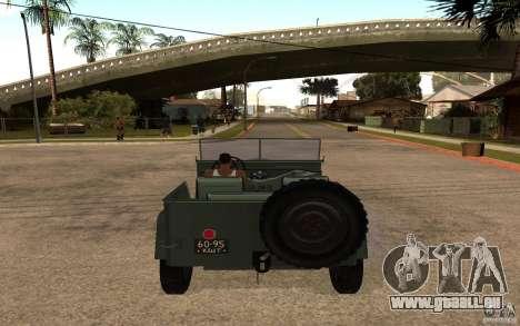 GAZ 67 b pour GTA San Andreas sur la vue arrière gauche