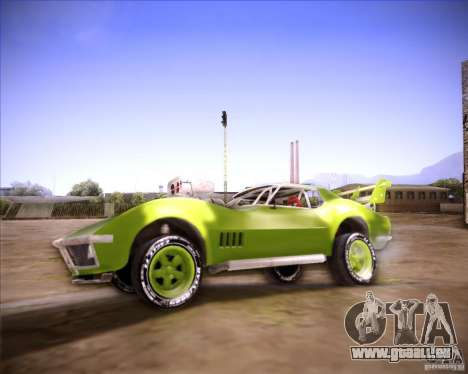 Chevrolet Corvette drag für GTA San Andreas linke Ansicht